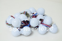 20Pcs/String WS2811 30mm Diffused Full Color 3 LEDs 5050 SMD RGB Programmable pixel Led Module 12V milky cover 30mm diameter