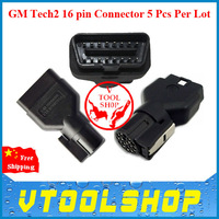 2014 Hot Promotion 5 PIECES/LOT GM Tech2 OBD 16 Pin Adapter With DHL Free Shipping, GM Tech2 16 pin Connector