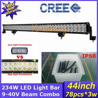 "Led driving light 12V/24V 43.82"" led Work light 234W Camper 4x4 Spot Flood Beam Combo Cree led off-road lamp car pick-up 4WD"