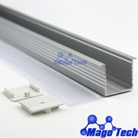 DHL/FEDEX/EMS Free shipping-Recessed aluminum LED slim line strip light profile Linear LED Display Profiles