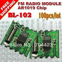 FREE SHIPPING 100PCS/LOT FM receiver module AR1019 chip TJ-102