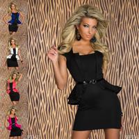 summer dress 2014 New Fashion Women Peplum Bandage Sexy Mini Evening Club Party M L XL Size