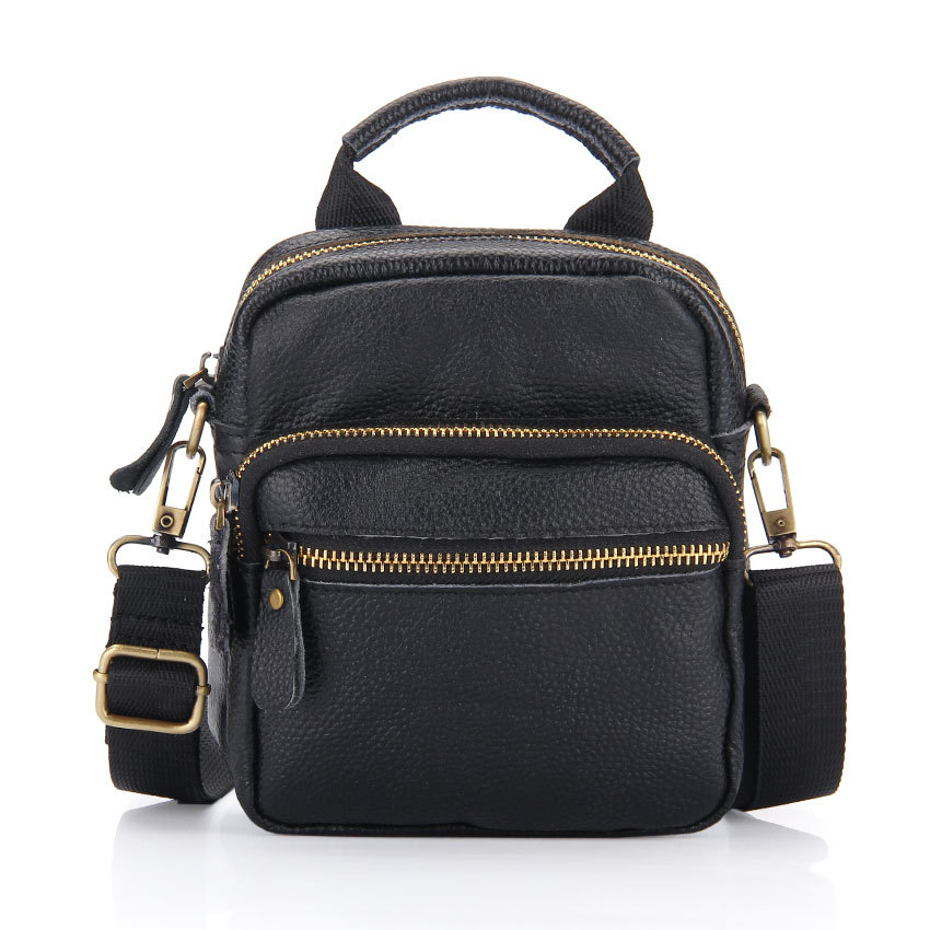 Small bags new 2014 arrival mini man genuine leather bag, waist pack, multifunctional shoulder bag, totes, Free shipping(China (Mainland))