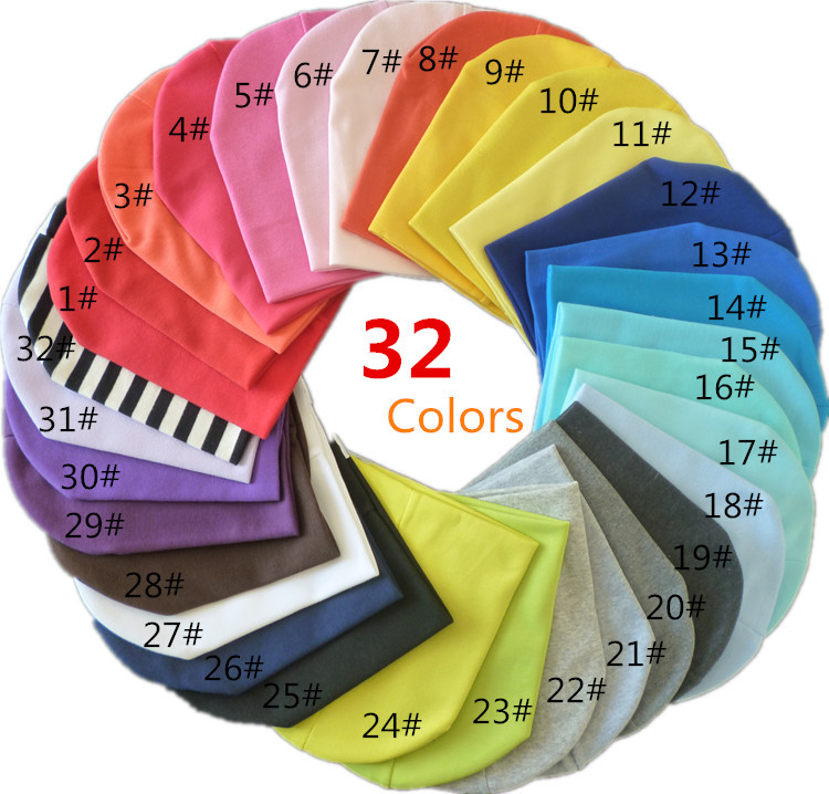 Hats 32 colors (1lot=10pieces) solid baby hat baby caps infant Cotton children Hats Skull Cap Toddler Boys & Girls kids Beanies(China (Mainland))