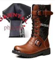 2014  cool man Vintage PU   western fashion boots  high top  fashion  men's boots free shipping