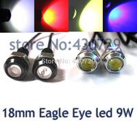 Free Shipping Car DIY 1.8Cm 1.5W 7000K 500-Lumen Waterproof Eagle Eye LED Daytime Running/Brake Lamps / Lights (DC 12V)