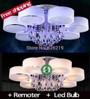 Modern led brief Crystal Chandelier for Living room  Bedroom lights Chandeliers lighting Frosted glass lustre abajur luminaria