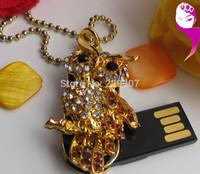 u disk genuine special owl rhinestone necklace u disk u disk boys creative personality pen drive  usb flash drive 1-32GB