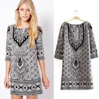 2014 women desigual dress/summer vintage flower print Bohemian dresses/hippie boho Paisley chiffon dress/vestidos feminino/WFL