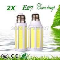 2X E27 / E14 / B22 9W 15W LED COB Corn Light Lamp Warm White Cold white Energy Saving 110-240V Free Shipping !!!