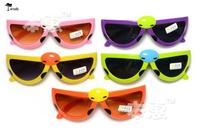 Eyeglasses Free shipping ( 10pairs ) Wholesale cute baby anti-UV folding mix colors baby kids sunglasses Boys&Girls YJ1270