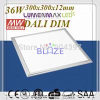 Wholesale DALI Dim led panel light 300x300mm 36Watt super light LumenMax leds Dimmable Mean Well led driver