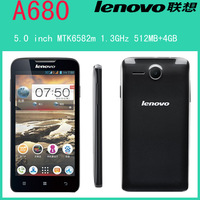 Original Lenovo A680 1.3GHz MTK6582m Quad core 5.0 inch IPS Screen 5.0MP Camera 3G Android 4.2 Smartphone