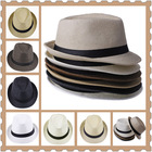 1pc Unisex Women Men Casual Trendy Beach Sun Straw Panama Jazz Hat Cowboy Fedora Gangster Cap with Black Ribbon 6 Colors(China (Mainland))