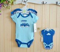 3pcs/lot Unisex short Sleeve similar carters baby boy,summer Seasonal Design 100% Cotton Baby Romper,0-3,3-6months