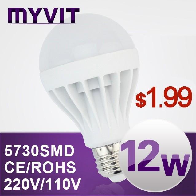 Vente en gros e27 b22 ampoule led 3w 5w 7w 9w 10w 12w 15w mené la lampe ampoule, 220v