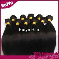 "Rosa hair products peruvian virgin hair straight 3pcs/4pcs lot,cheap peruvian hair 8""-30""  remy human hair extension tangle free"