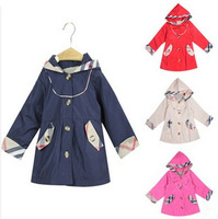 Blue Red 2014 New Autumn Children Outerwear Fashion Kids Jackets & Coats Winter Baby Outerwear Boy Girls Brand Coat Hot Sale