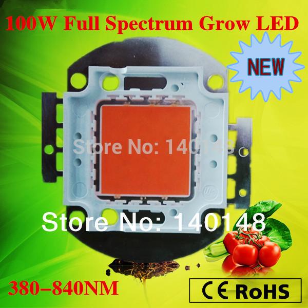 2014 neuankömmling wachsen licht chip gesamte Spektrum 380-840nm 100w led wachsen licht Reihe für den diy Wachstum und Blüte versandkostenfrei