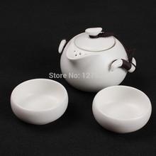 Genuine Ceramic Tea set ,teapot, China Ding Kiln tea set, Kung Fu Tea set, A pot of two cups~(China (Mainland))