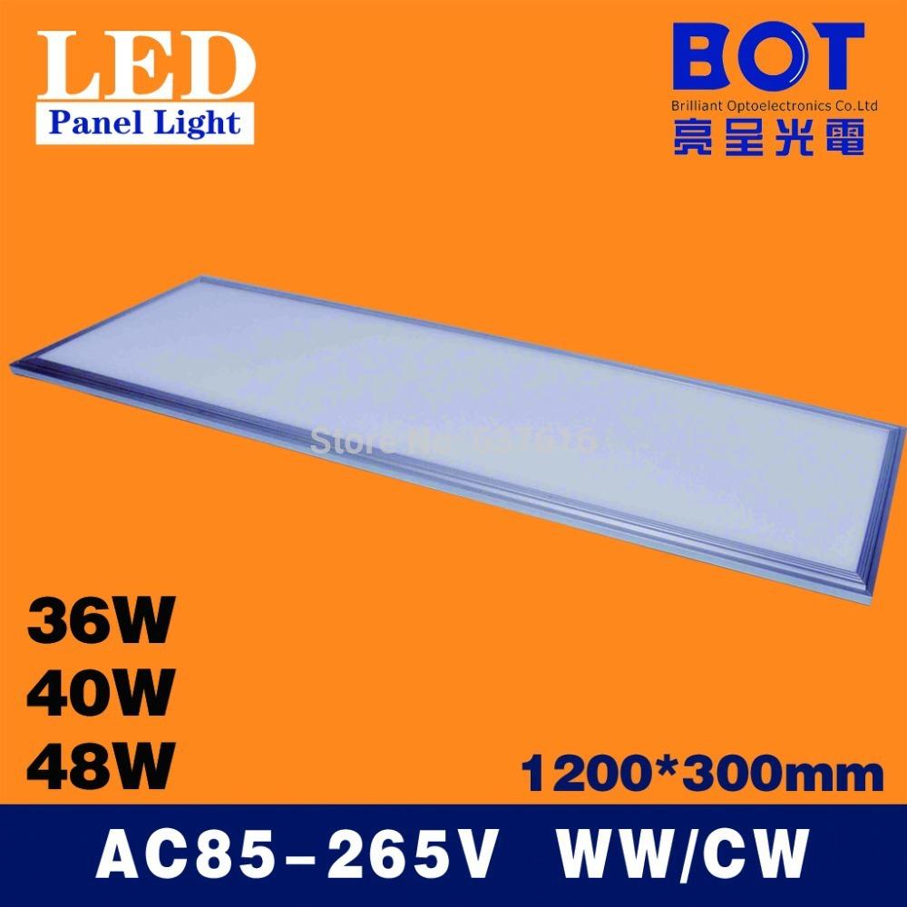 1200*300mm LED panel light lamp 36W/40W/48W SMD2835 School/Hospital/Super market/Workshop/Office/Home/Hotel lighting WW/CW(China (Mainland))