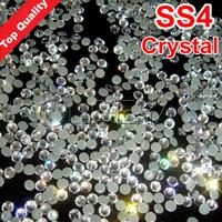 SS4 mini size Best Quality Hot Fix Rhinestone More Shiny,More Bright hotfix stones Crystal  10gross/bag  Flatback Whit Glue