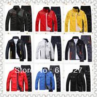 2014 Brand men jacket man sports tracksuit spring autumn winter sportswear leisure sport suit hoodies Sweatshirts sets 3 styles