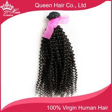 Queen Hair Virgin Brazilian Curly Human Hair Extensions, 1pc/lot Brazilian Virgin Hair Bundles afro Kinky Curly Hair Weaves(China (Mainland))