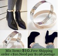 ZH0765 Good quality  Fashion metal Punk Flat Mirror Wide Metal Anklet Ankle Leg Foot Cuff Bracelet