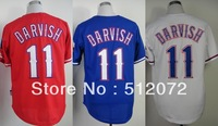 Texas #11 Yu Darvish Men's Authentic Cool Base Alternate Red/Alternate Blue/Home White Baseball Jersey