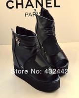 New 2014 spring Leg vivi fashion  summer open toe platform wedges shoe platform high-heeled sandals female  qw221