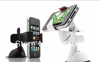 Rotating Car Windshield Mount Holder Bracket Stand Clip for iPhone 5 4S for HTC for SAMSUNG S3 S2 for GPS Free Shipping
