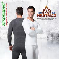 Retail TCB367 ZEROBODYS Comforttable Men Winter Thermal  Dress Warm Body Shaper HeatMax Long Sleeve T-Shirt
