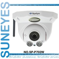SunEyes SP-P702W Wifi Wireless Dome IP Camera ONVIF 720P HD with TF/Micro SD Card Slot Two Way Audio Array IR Project Quality