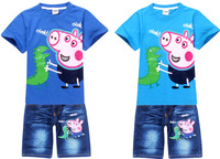 Peppa Pig Clothing New 2014 Kids Clothes Sets Baby Clothes Children Clothing Sets Sport Suit Unisex Girls Boys kids tracksuit