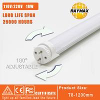 6pcs/lot 180 degree rotate led tube light led t8 1200mm lamp cold white/warm white 2years warranty CE&ROHS