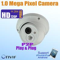 FREE Shipping P2P Play&Play 720P 1 Megapixel IP cameras 1280*720,15m IR View,ONVIF POE,CCTV Seucity 1.0 Mega Pixel IP Camera