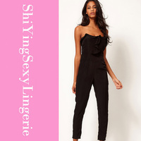 spring 2014 Sexy Jumpsuit with Pleated Bust Origami Detail LC6225 fantasias costumes