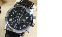 JA009 5CM Big Dial Automatic Watch for Men.Luxury Brand Dress Mechanical Self Wind Watches,Businessmen Leather Strap Wristwatch