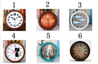 60pcs/ctn wholesale Novelty desk Clock 3-hand antique style clock pastoral wood like grain 50x30x45cm 180g/pc AAA*1 not include