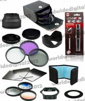 18pcs Filter Set 58MM UV CPL FLD Filter Kit + Rubber Lens Hood + Gradual ND2 4 8 Filter Set for Canon Rebel T4i T3i T3 T2i F10