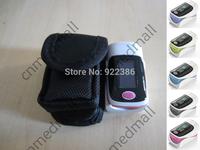 10pcs/lot with Protect Bag cute color!! Fingertip Pulse Oximeter, Blood Oxygen SpO2 saturation oximetro monitor sound alarm