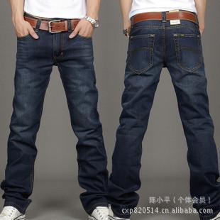 lewis jeans men original perfume jeans men 817 men perfume brand denim pants dark bule(China (Mainland))