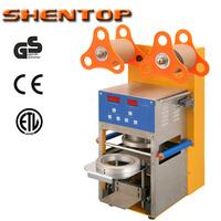 SHENTOP Digital Full Automatic Cup Sealing Machine bubble tea sealing bubble tea ST-QF08