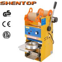 SHENTOP Semi-automatic Bubble Tea Machine Cup Sealing Machine Bubble Tea Sealer ST-QF05