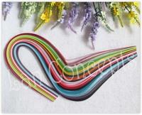 Free shipping DIY Paper Filigree Quilling for crafting  - W0.5cm x L52cm MIXED 15 colors 1500pcs/lot LA0123