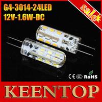 G4 Smd 3014 24Leds Chip DC12V 360 Degree Led Spotlighting Silicon Lamp non-polar Crystal Bulbs Lights Chandelier Downlight 10Pcs
