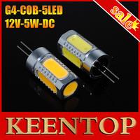 High Power Car Chandelier Led Lighting Crystal Lights COB G4 5W DC12V 5LED Corn Light Lamp Bulbs Ceiling Spotlight G4 Led 10Pcs