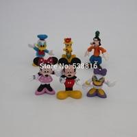 MICKEY Minnie figure 1set 1set = 6pcs 2.4''-3.1'' Minnie Mouse Donald Duck Cartoon Childre's toy