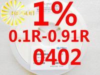 10000PCS 0402 Resistor 0.1R - 0.91R 1% 1/16W SMD Resistor 0402 Chip Resistors